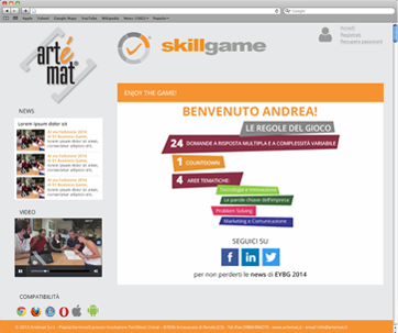 Interfaccia Skillgame
